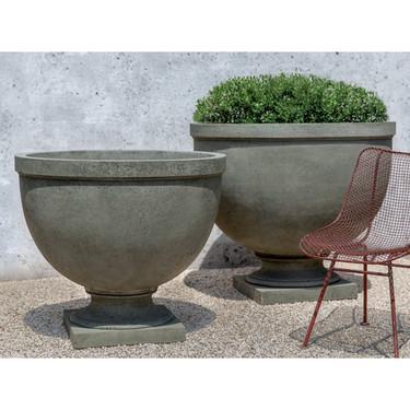 Huntington Urn Planters (cast stone in alpine stone finish)