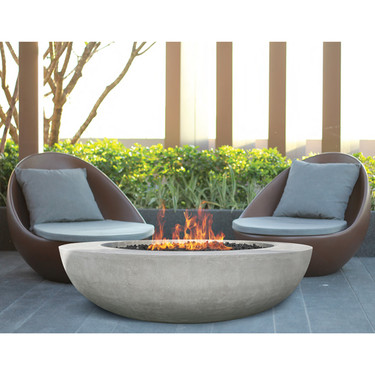 Moderno 3 Fire Pit - (glass fiber reinforced cement in pewter)