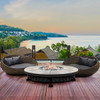 Fuego Fire Pit (glass-fiber reinforced cement in pewter)