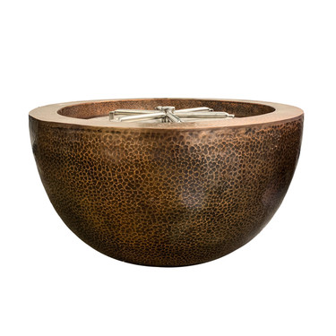 Moderno 3 Copper Fire Pit (hammered copper)