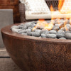 Moderno Copper Fire Pit detail (hammered copper)