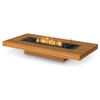 Gin 90 Low Fire Pit Table - Teak)