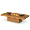 Gin 90 Chat Fire Pit Table (in Oiled Teak)