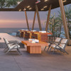 Gin 90 Chat and Bar Fire Pit Tables (Teak)