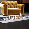 Indoor Cosmo 50 Fire Pit Table (Bioethanol Burner, Concrete in Natural)