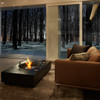 Martini 50 Fire Pit Table Detail (Indoor Ethanol Burner, Concrete in Graphite)