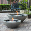 Mix 850 and Mix 600 Fire Pit Bowls in Natural, Stainless Steel Burners