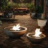 Mix 850 and Mix 600 Fire Pit Bowls in Natural, Stainless Steel Burner