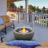 Pod 30 Fire Pit Bowl in Natural, Stainless Steel Ethanol Burner, Optional Glass Screen