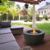 Pod 40 Fire Pit Bowl in Natural, Stainless Steel Ethanol Burner, Optional Glass Screen