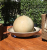 Ball and Wok Fountain - Material GFRC - Finish Sierra
