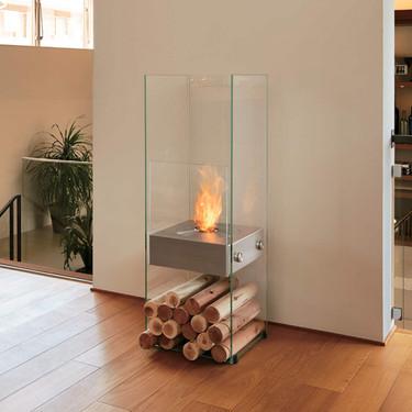 Ghost Designer Fireplace (Stainless Steel Burner)