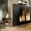 Ghost Designer Fireplace (Ceramic Black Burner)