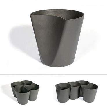 Ginko Container Grouping - Material : Fiber Cement - Finish : Anthracite