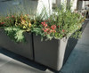 Delta Rectangular Container Corner Planter - Material : Fiber Cement - Finish : Anthracite