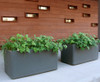 Delta Rectangular Container Outdoor Pair - Material : Fiber Cement - Finish : Anthracite
