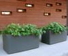 Delta Rectangular Container Outdoor Pair - Material : Fiber Cement - Finish : Anthracite