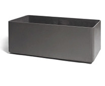 Delta Rectangular Container 39x18 - Material : Fiber Cement - Finish : Anthracite