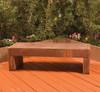 Trevi Bench - Material : GFRC - Finish : Chestnut