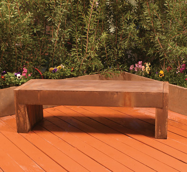 Trevi Bench - Material : GFRC - Finish : Chestnut