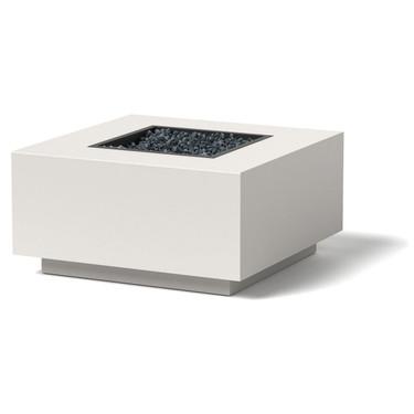 Block Fire Pit - Material : Aluminum - Finish : Linen White