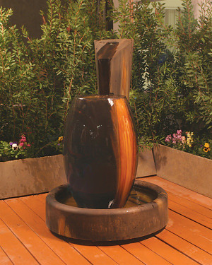 Canister Fountain - Material : GFRC - Finish : Absolute