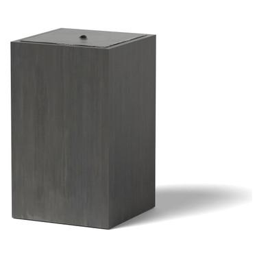 Column Water Fountain - Material : Marine Grade Aluminum : Finish : Oxidized Zinc