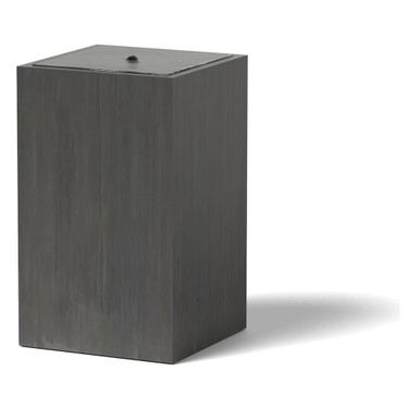 Column Water Fountain - Material : Marine Grade Aluminum : Finish : Oxidized Zinc