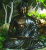 Brass Buddha Statue - Material : Brass - Finish : Verdigris