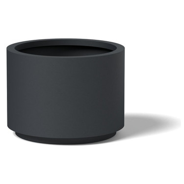 Cylinder Planter - Material : Aluminum - Finish : Charcoal Gray