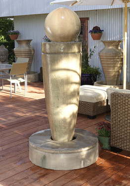 Drum Fountain - Material : GFRC - Finish : Sierra
