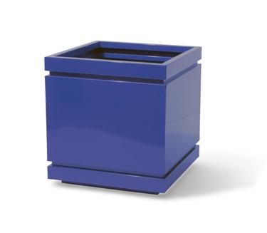 Double Groove Planter - Material : Aluminum - Finish : Custom Blue