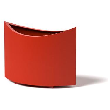 Ellipse Planter - Material : Aluminum - Finish : Red