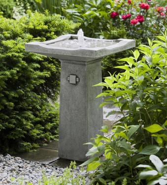 Bjorn Fountain - Material : Cast Stone - Finish : Alpine Stone