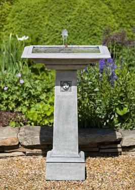 Hampstead Fountain - Material : Cast Stone - Finish : GreyStone