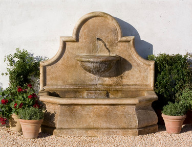 Andalusia Fountain - Material : Cast Stone - Finish : Aged Limestone