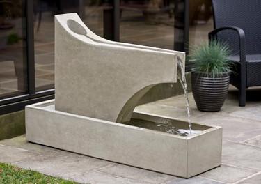 Precipice Fountain - Material : Cast Stone - Finish : Greystone