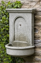 Portico Wall Fountain - Material : Cast Stone - Finish : Alpine Stone