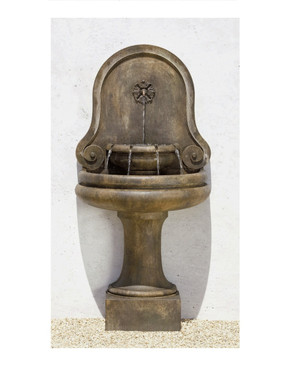 Valencia Wall Fountain - Material : Cast Stone - Finish : Pietra Vecchia