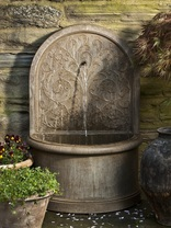 Corsini Wall Fountain(FT-171) - Material : Cast Stone - Finish : Aged Limestone