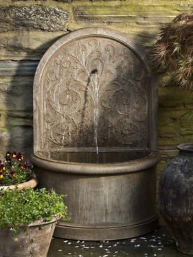 Corsini Wall Fountain(FT-171) - Material : Cast Stone - Finish : Aged Limestone