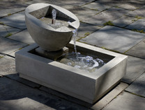 Genesis II Fountain(FT-73) - Material : Cast Stone - Finish : Verde