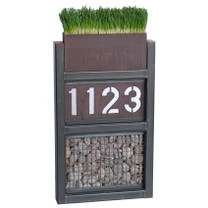 Hedge Metal Address Sign - Material : Mild Steel - Finish : Natural Rust