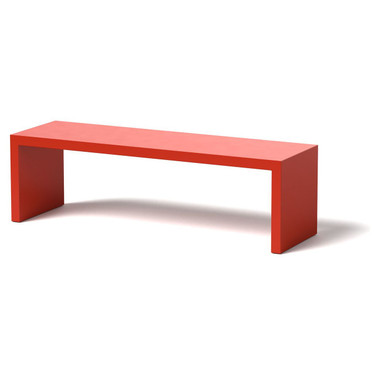Gallery Bench - Material : Aluminum : Finish - Red