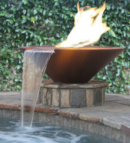 Geo Round Fire and Water Bowl - Material : GFRC
