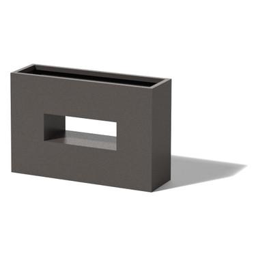 Horizontal Window Box - Material : Aluminum - Finish : Silver