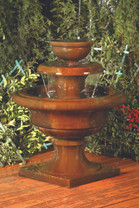Liveo Fountain - Material : GFRC - Finish : Chestnut