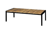 ZUDU coffee table - Reclaimed Teak, Black Powder Coated Aluminum