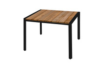 ZUDU Dining Table 100 - Reclaimed Teak, Black Powder Coated Aluminum