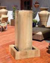 Monolith Fountain - Material : GFRC - Finish : Sierra